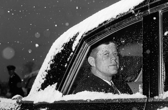 President Kennedy Snowy Limousine