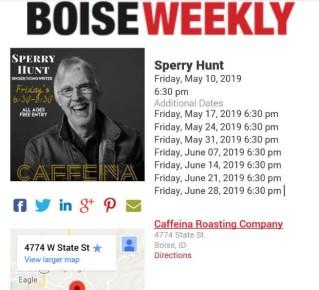 Boise Weekly Calendar